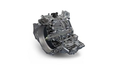 Detail view of the N DCT transmission of the new i30 N.